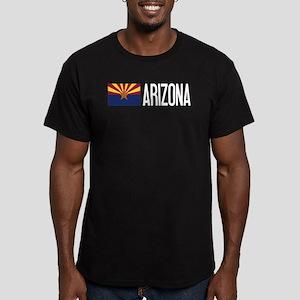 Arizona: Arizonan Flag Men's Fitted T-Shirt (dark)