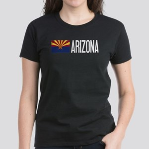 Arizona: Arizonan Flag & Ariz Women's Dark T-Shirt