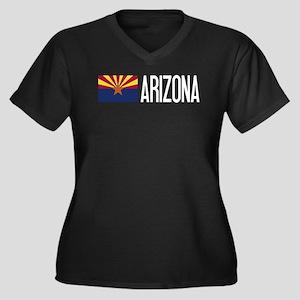 Arizona: Ari Women's Plus Size V-Neck Dark T-Shirt
