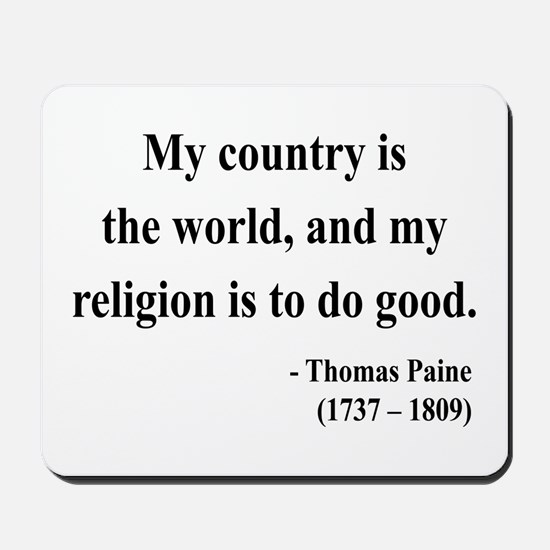 Thomas Paine 8 Mousepad