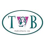 The Bouffants TB Oval Sticker