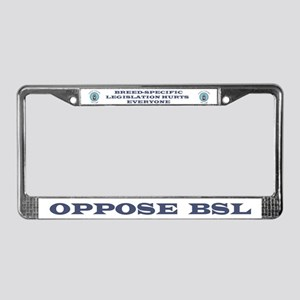 Anti-BSL License Plate Frame