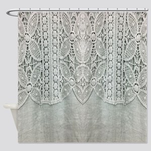 Ivory Lace Shower Curtains