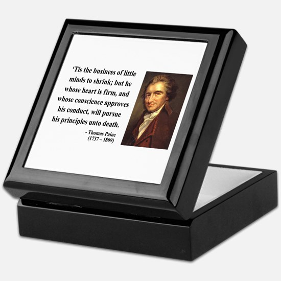 Thomas Paine 9 Keepsake Box