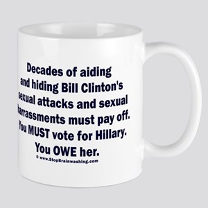 Hillary helped Bill attack Mug