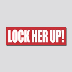 Lock Her Up Car Magnet 10 x 3