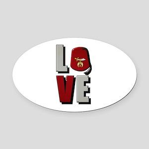 Shrine Love Oval Car Magnet