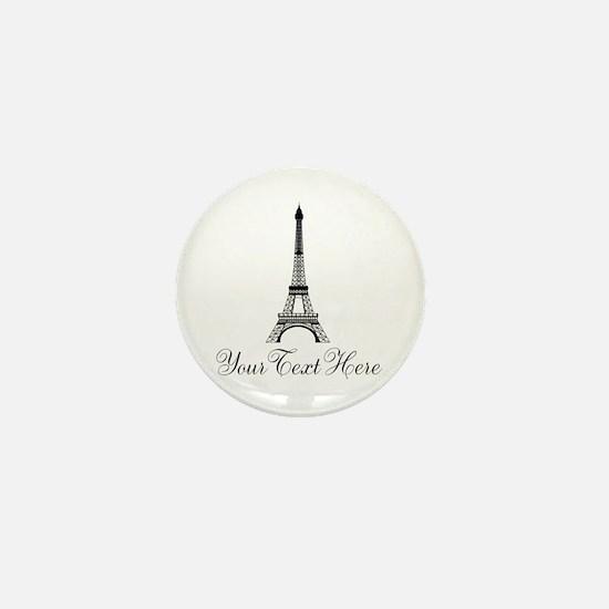 Personalizable Eiffel Tower Mini Button