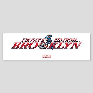 Captain America Kid from Brooklyn Sticker (Bumper)