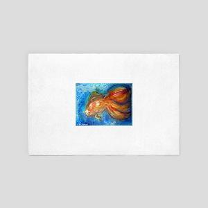 Goldfish, fun art! 4' x 6' Rug