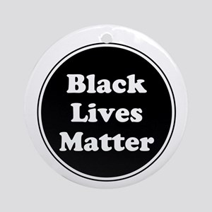 Black Lives Matter Round Ornament