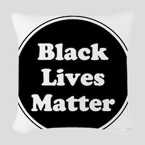 Black Lives Matter Woven Throw Pillow