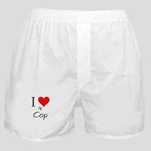I Love My Cop Boxer Shorts