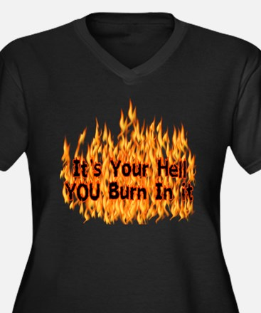 It's Your Hell Women's Plus Size V-Neck Dark T-Shi