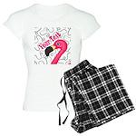 Pink Flamingo Black Pajamas