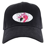 Pink Flamingo Black Baseball Hat