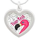 Pink Flamingo Black Necklaces