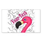 Pink Flamingo Black Sticker