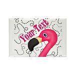 Pink Flamingo Black Magnets
