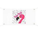 Pink Flamingo Black Banner
