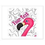 Pink Flamingo Black Posters