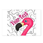 Pink Flamingo Black Postcards (Package of 8)