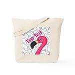 Pink Flamingo Black Tote Bag