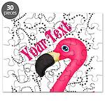Pink Flamingo Black Puzzle