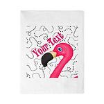 Pink Flamingo Black Twin Duvet