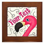 Pink Flamingo Black Framed Tile