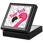 Pink Flamingo Black Keepsake Box
