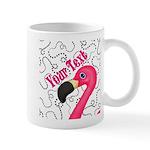 Pink Flamingo Black Mugs