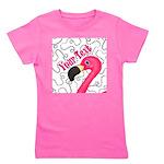 Pink Flamingo Black Girl's Tee