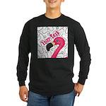 Pink Flamingo Black Long Sleeve T-Shirt