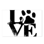 Love Dogs Paw Print Postcards (Package of 8)
