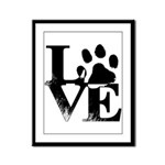 Love Dogs Paw Print Framed Panel Print
