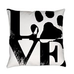 Love Dogs Paw Print Everyday Pillow
