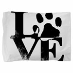 Love Dogs Paw Print Pillow Sham