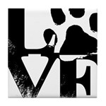 Love Dogs Paw Print Tile Coaster
