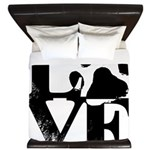 Love Dogs Paw Print King Duvet