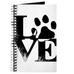 Love Dogs Paw Print Journal