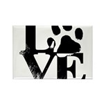 Love Dogs Paw Print Magnets