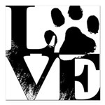 Love Dogs Paw Print Square Car Magnet 3