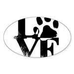Love Dogs Paw Print Sticker