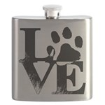 Love Dogs Paw Print Flask