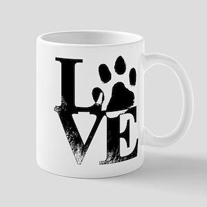 Love Dogs Paw Print Mugs