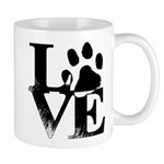 Love Dogs Paw Print Mugs
