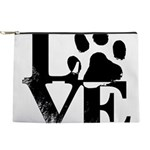 Love Dogs Paw Print Makeup Bag
