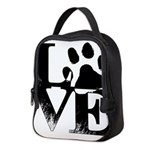 Love Dogs Paw Print Neoprene Lunch Bag