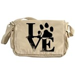 Love Dogs Paw Print Messenger Bag